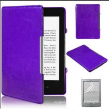Cubierta elegante ultra delgada de la caja de cuero de la PU para Amazon Kindle Paperwhite 7
