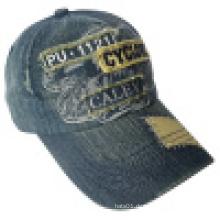 Gewaschene Denim Cap mit Logo # 04