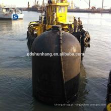Pára-choques submarino de borracha pneumática