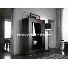 Porte en verre en bois Style moderne vin armoire (SM-D04A)