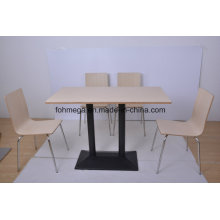 Fast Food Restaurant 4 Seater Dining Sets (FOH-NCP15-6)