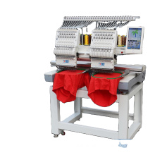 hot sale cheap cost 2 head hat T-shirt computerized embroidery machine