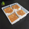 Four Compartments Plastic Biscuits Cookies Tray
