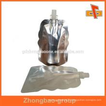 Leakproof spout top aluminium foil plastic stand up pouch