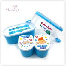 Caixa de lanche de recipiente de comida de plástico portátil dos desenhos animados