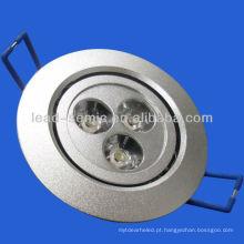 3w luz do diodo emissor de luz da lâmpada do teto do diodo emissor de luz