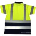 Respirant fluorescent jaune orange manches longues OEM personnalisé logo impression sécurité T-shirts avec 3M ruban réfléchissant