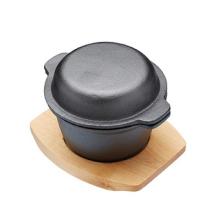 Prato de cassete de ferro fundido pré-temperado