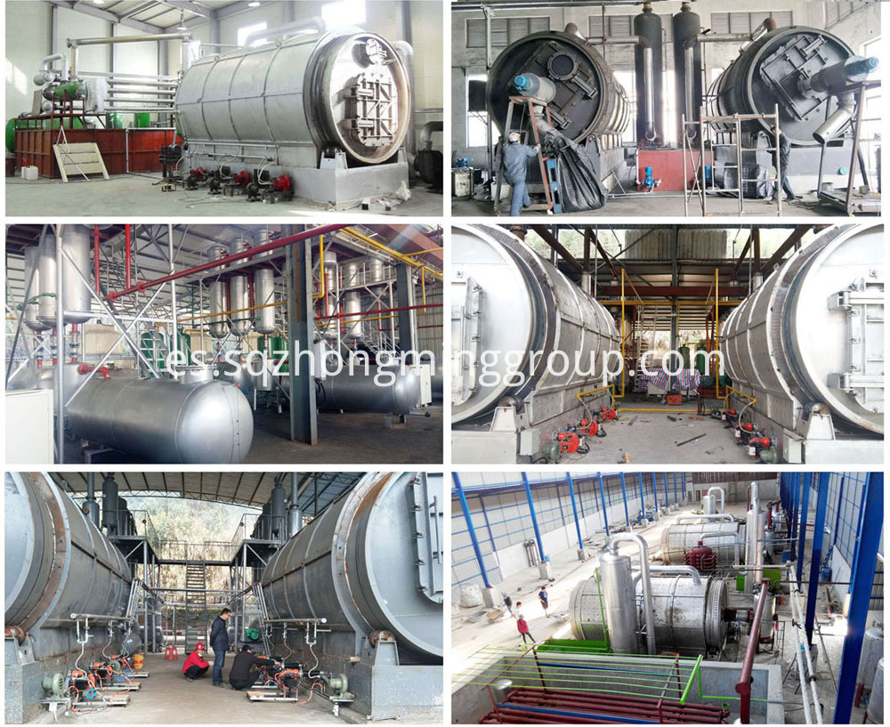 plastic pyrolysis oil distillation plant