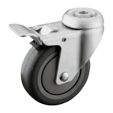 Total Lock Brake Hollow Kingpin Hospital Wheel Casters