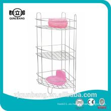 Estante del cuarto de baño del metal de tres capas / estante del cuarto de baño / soporte del cuarto de baño