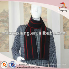 mens fashion printed vertical stripe scarf,mens jacquard brushed silk scarf