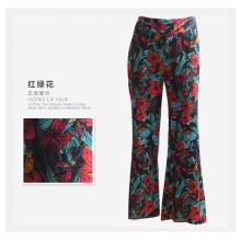 High Quality Women Trousers Meadow Print Wide Leg Women Pants
