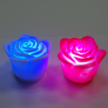 Romantic LED rose candle