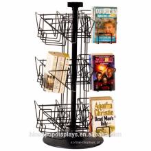 Fabricantes Design Books Loja de varejo Rodando 18 bolsos de mesa de mesa superior
