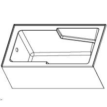 60 X 32 Baignoire en acrylique avec jupe intégrée avec tablier