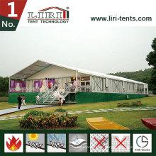 15m Clear Span Aluminium Big Zelt als temporäre Büro verwendet