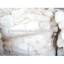 100% Baumwolle, gewebter grauer Stoff