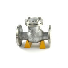 Good price made in China angle seat stop stainless steel check valve with flange connection