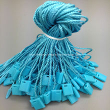 Blue small locking string tag