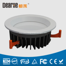 Plastic,PC Cover and aluminum base 17w led downlight round