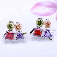 2018 Großhandel Zirkon Mode Ohrring Liebe Paar Ohrringe