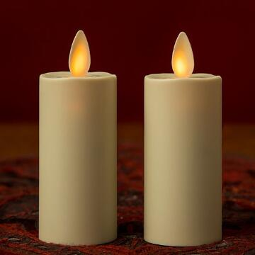 Set of 2 Ivory 3 inch Luminara Votive Candles
