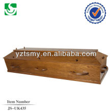 direct sale European style poplar adult coffin made in China