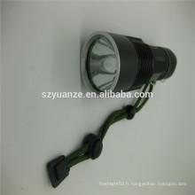 Lampe de poche zoom chinoise avec support, torche à led forte