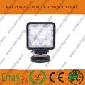 Luz de trabajo LED de 15 W, luz de trabajo LED de 10-30 V CC con 1275 lm, haz puntual / de inundación, LED Epsitar de 5 piezas x 3 W para camiones, luz de trabajo LED