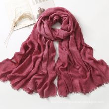 Women Pure Color Rayon Scarves Shawls