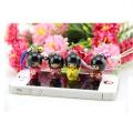 japanische Mädchenpuppe keychain hölzerne Dekoration