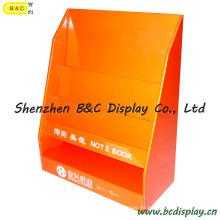 Buch-Karton-Ausstellungsstand, Gegenanzeige, Tabelle PDQ, Schreibtisch-Anzeigen-Regal, Papier-Ausstellungsstand (B & C-D030)