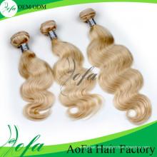 Trama humana del pelo de Remy del pelo de la Virgen del precio de fábrica de alta calidad