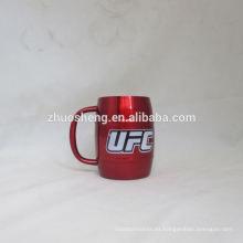 respetuoso del medio ambiente impreso precio caliente taza de café de acero inoxidable al aire libre