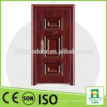 Porte en bois en acier de conception simple pour position extérieure en vente chaude