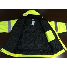 Winter Reflective Jacket, with Liner PP Cotton