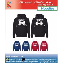 Mens and ladies cotton hoodies/long sleeve hoodies/hoodied sweatshirt for couple