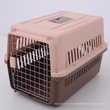 Le vol en plastique d'animal familier de cage d'animal familier de chien d'aviation a approuvé le voyage