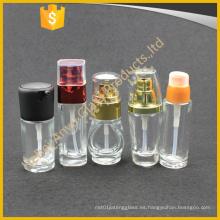 30ml 50ml crema cosmética crema solar botella de loción de vidrio con bomba