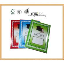 Tamanho 250 * 175 milímetros Árabes Lines Ruling PVC Jacket Exercício Notebooks
