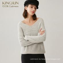Frau Neueste Tragen in beide Richtungen Pure Cashmere Pullover Spezielle Garn Strickwaren