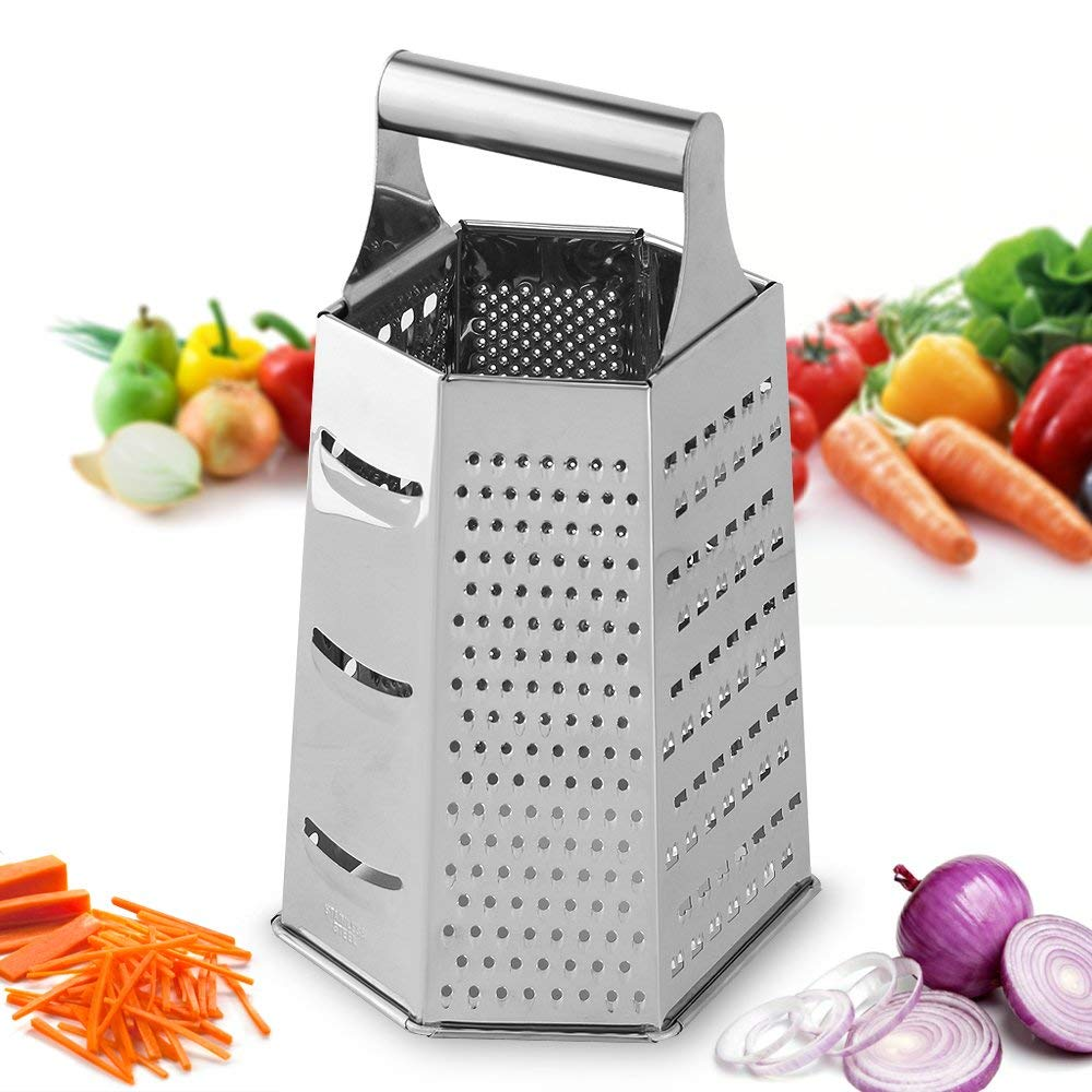 6 side cheese grater