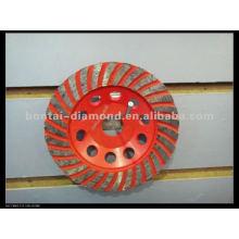Алмазное чашечное колесо диаметром 230 мм и диаметром 22,23 мм. Алюминиевая связь и металлическая связь