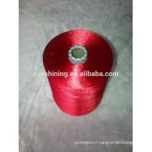 Fil de filaments de viscose teints au pastel 120D / 30F de la meilleure qualité