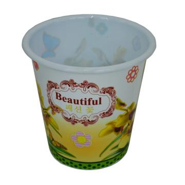 Plastic Ländlichen Stil Prited Open Top Dustbin für Haus / Küche / Büro (B06-032-2)