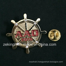 Rhinestone Round Design Metal Pin Badges for Bag