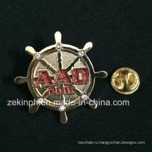 Горный хрусталь круглый дизайн значки штыря металла для мешка