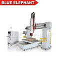 1224 foam car wood mould styrofoam airplane eps cutter 5axis cnc router from Jinan Blue Elephant