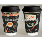 cheaper black paper coffee cup on sale